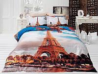 Комплект постельного белья First choice 3D сатин Paris Ciyy Двуспальный Евро