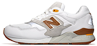 Мужские кроссовки New Balance 580, нью баланс белые