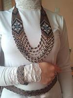 Жіночий комплект: силянка, пояс і браслет (Женский комплект: крестьянка, пояс и браслет) ASN-0020