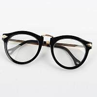 Имиджевые очки круглые  в широкой оправе с металлическими дужками