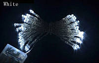 Гирлянда на батарейках, 40 led 4м новогодние украшения - белая
