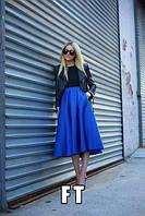 Длинная женская юбка из габардина