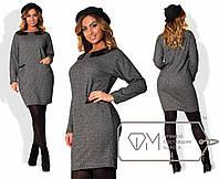Свободное платье в больших размерах f-1515901