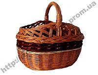 """Плетена  корзина """"Ажур"""" из натуральной лозы, фото 1"""