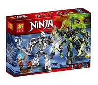 Конструктор Lele серия Ninja / Ниндзя 79121 Бой механических титанов