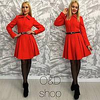 Женское очень модное демисезонное пальто-колокольчик (3 цвета)