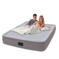 Надувная кровать Intex Comfort Plush Mid Rise Airbed 67770, встроенный электронасос( 203x152x33см)