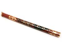 Расписная флейта деревянная