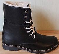 Супер зимние стильные женские кожаные сапоги ботинки Timberland теплые