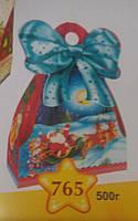 """Новогодняя упаковка  765 """"Подарок с бантом"""""""