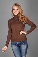 Тонкий свитерок из натуральной хлопковой пряжи амаретто