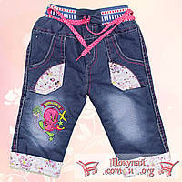 Детские джинсы на травке для девочек Турция от 6 месяцев до 4 лет (4809-1)