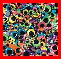 Глазки для игрушек и скрапбукига в ассортименте