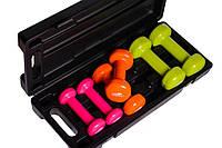 Набор гантелей для фитнеса PowerPlay в кейсе