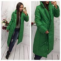 Пуховик женский Стильный зелёный+