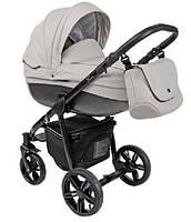 Детская универсальная коляска 2 в 1 Bass кожа B2 Roan, carbon black stone/black
