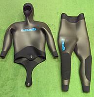 Голый гидрокостюм для подводной охоты зимой KatranGun Hunter SmoothSkin 10 мм; короткие штаны