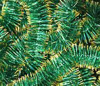 Мишура зеленая+золото, 2 см, 2,20 м
