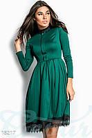 Красивое сдержанное платье из французского трикотажа. Цвет изумрудный.