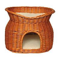 Дом плетенный для котов двух ярусный 50см