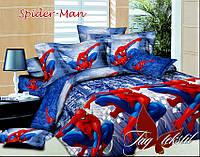 Постельное бельё полуторное Спайдермен Spider-Man с тканью компаньоном