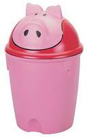 Детская корзина для мусора Свинка Curver 12 л.