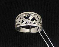 Кольцо серебро 925 проба 17 размер №1148 СЕРДЕЧКИ