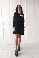 Чёрное молодёжное платье