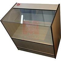 """Торговый прилавок-витрина полуоткрытый """"Эконом"""" из стекла и ламинированного ДСП"""