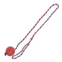 Karlie-Flamingo (Карли-Фламинго) BALL WITH ROPE игрушка для собак, мяч из литой резины на веревке
