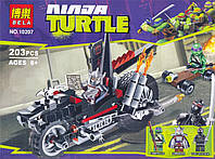 """Конструктор Bela Ninja turtles 10207 """"Мотоцикл-дракон Шреддера"""", 203 детали"""