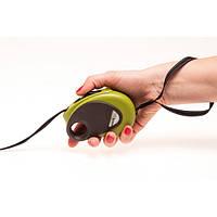 Karlie-Flamingo DogxToGo Belt Mini ДОГ ТУ ГОУ БЕЛТ МИНИ поводок-рулетка для собак до 8кг, с петлей на кисть руки и кнопкой блокировки, светоотражающая