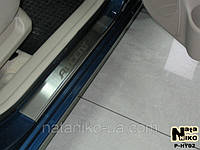 Накладка на пороги Hyundai Accent III