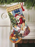 """Набор для вышивания 08751 """"Носок """"Рождественские певцы"""""""