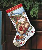 "08752 ""Santa s Journey Stocking"" набор для вышивания DIMENSIONS"