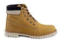 Желтые женские ботинки Palet (Натуральный нубук)