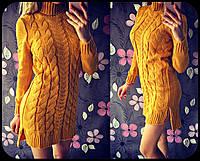 Теплое вязаное платье Валерия, фото 1