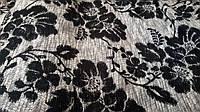 Браслон цветы темные, обивочная ткань для мебели, Турция (вит)