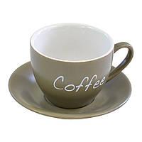 Чашка кофейная с блюдцем Nature 150 мл Krauff
