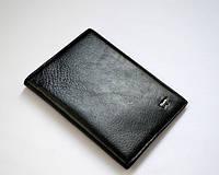 Обложка для паспорта, загран-паспорта кожаная черная