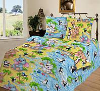 Ткань для детского постельного белья, бязь Чудо-остров