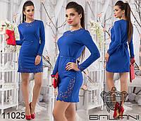 Перфорированное короткое платье  размер 42-46