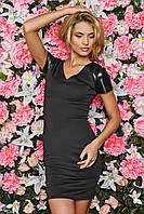 Черное платье sk house c V-образным вырезом: s,m