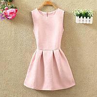 Платье женское жаккардовое розовое