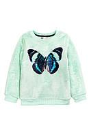 Детский плюшевый свитер для девочки. 1,5-2 года