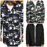 Мужская зимняя куртка парка в стиле милитари