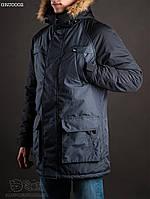 Куртка парка мужская зимняя Staff North melange denim Art. GRU0002.