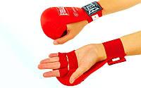 Накладки (перчатки) для карате Everlst красный
