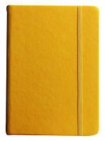 Ежедневник датированный 2017, А6 на резинке, желтый, обложка Touch Me, Buromax