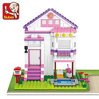 Конструктор Sluban Розовая Мечта M38-B0532 Загородный дом , 291 дет.